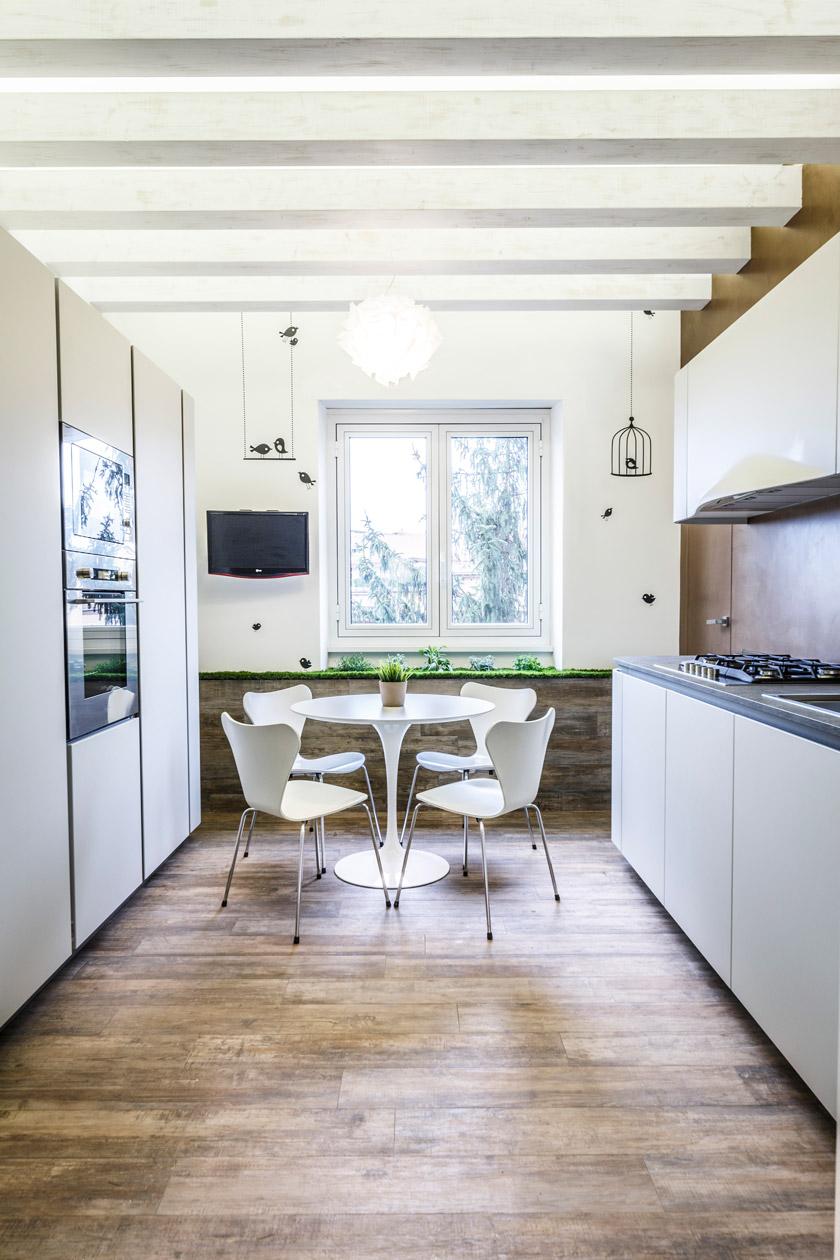 Интерьер кухни в эко стиле - фото 1