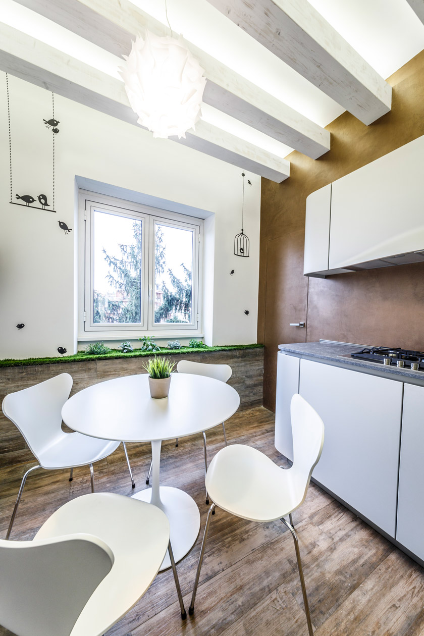 Интерьер квартиры в эко стиле - фото 1