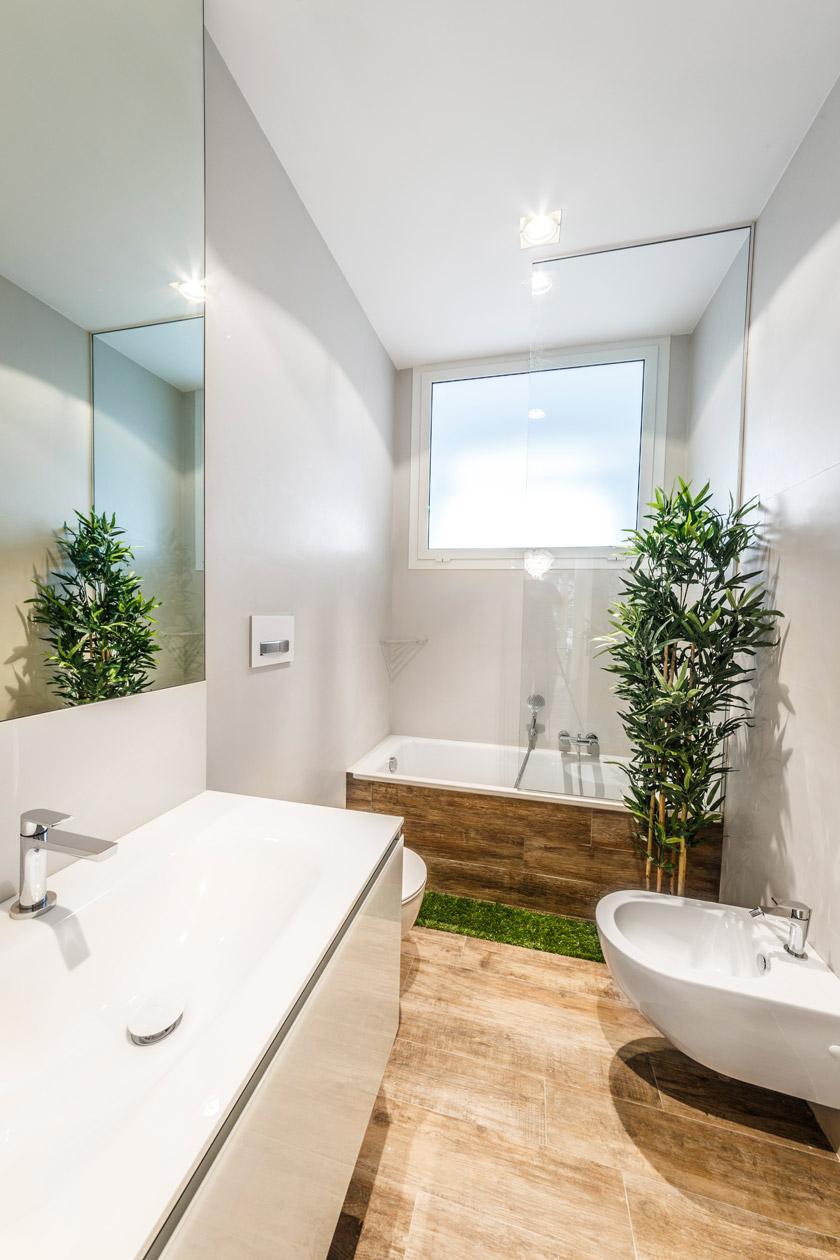 Интерьер ванной в эко стиле - фото 1