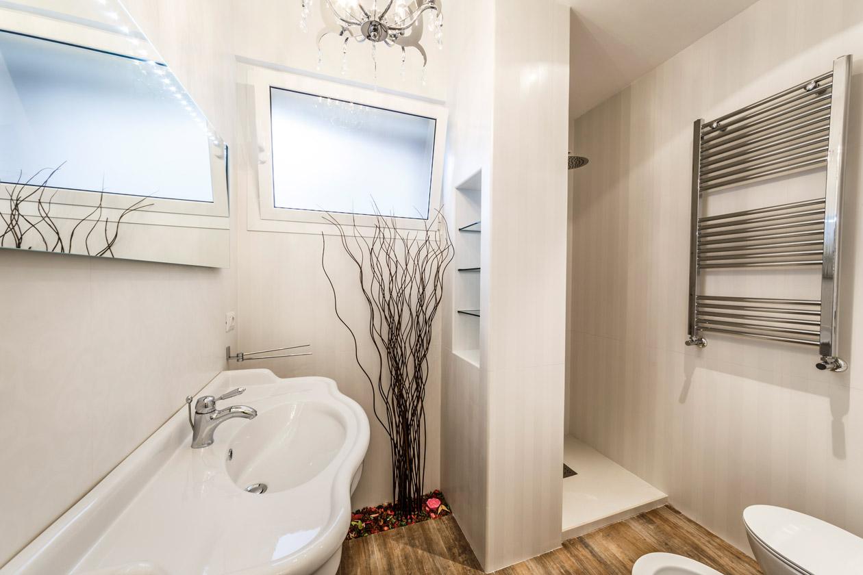 Интерьер ванной в эко стиле - фото 3