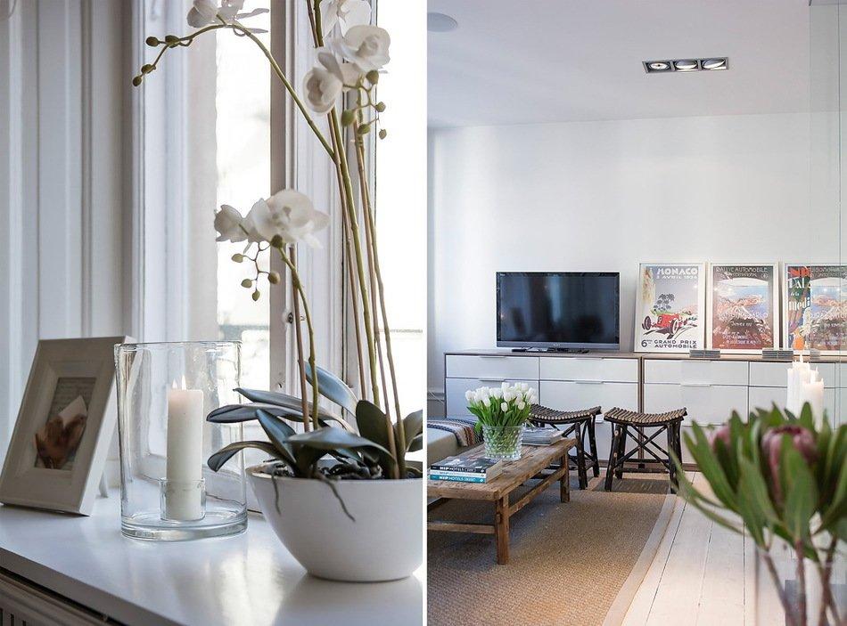 Цветы в оформлении квартиры-студии