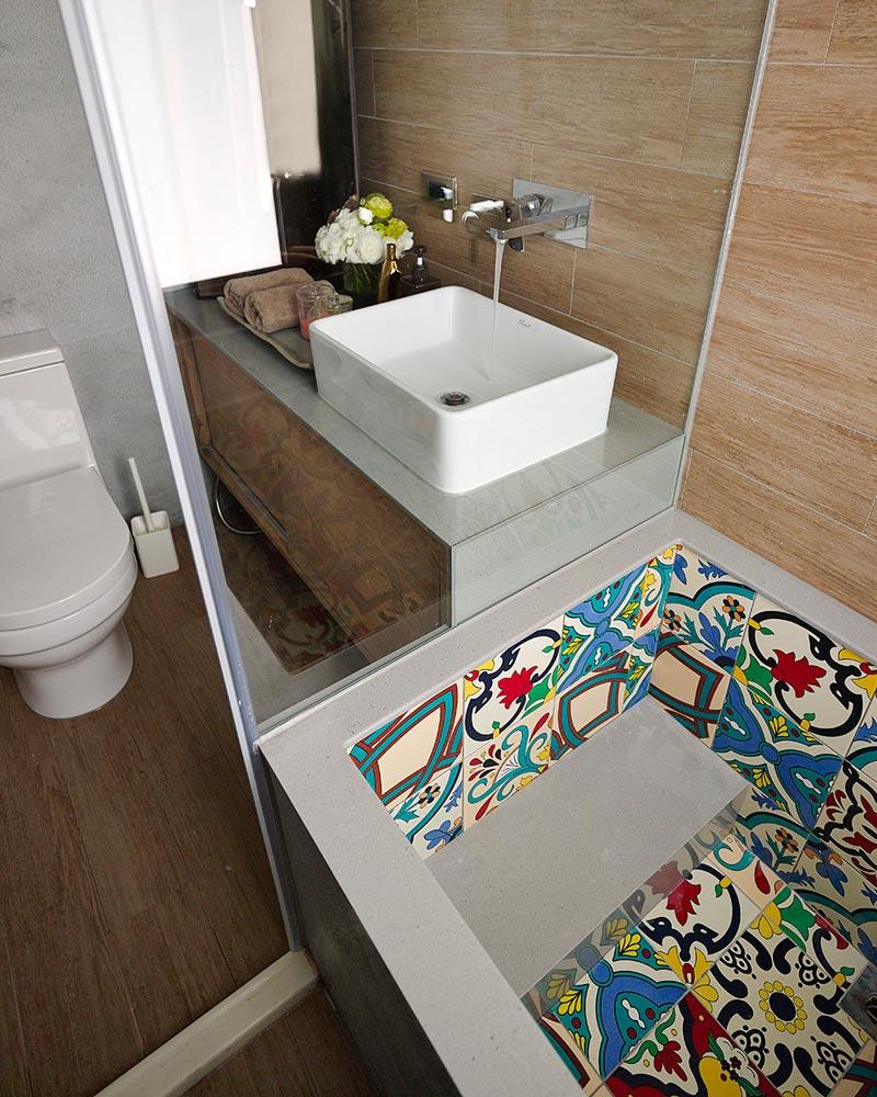 Красивая плитка в интерьере ванной
