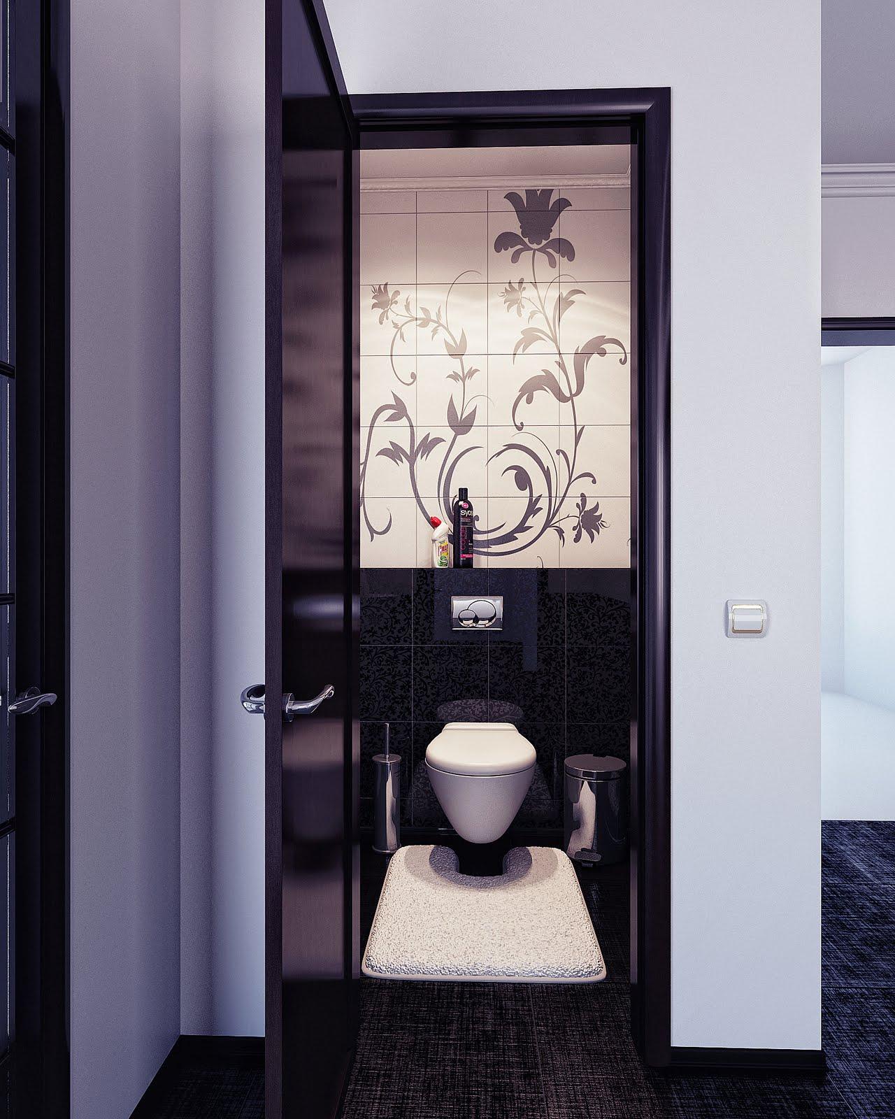 Цветочный узор в туалете