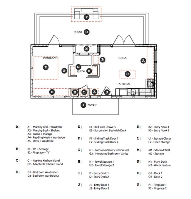 Планировка маленького загородного дома от GreenPod