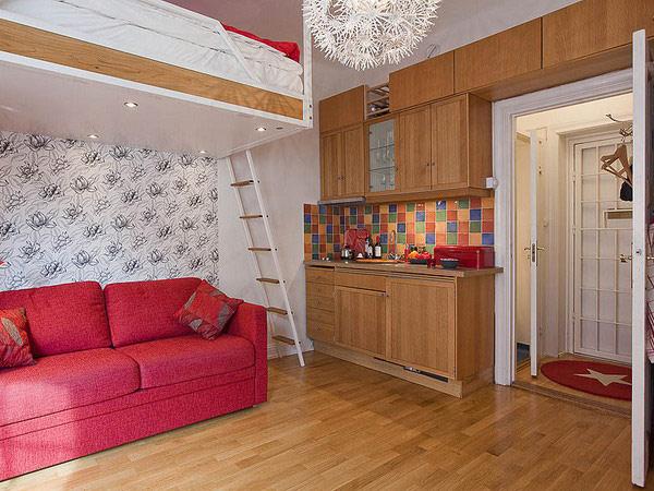Интерьер квартиры с двух-ярусной кроватью