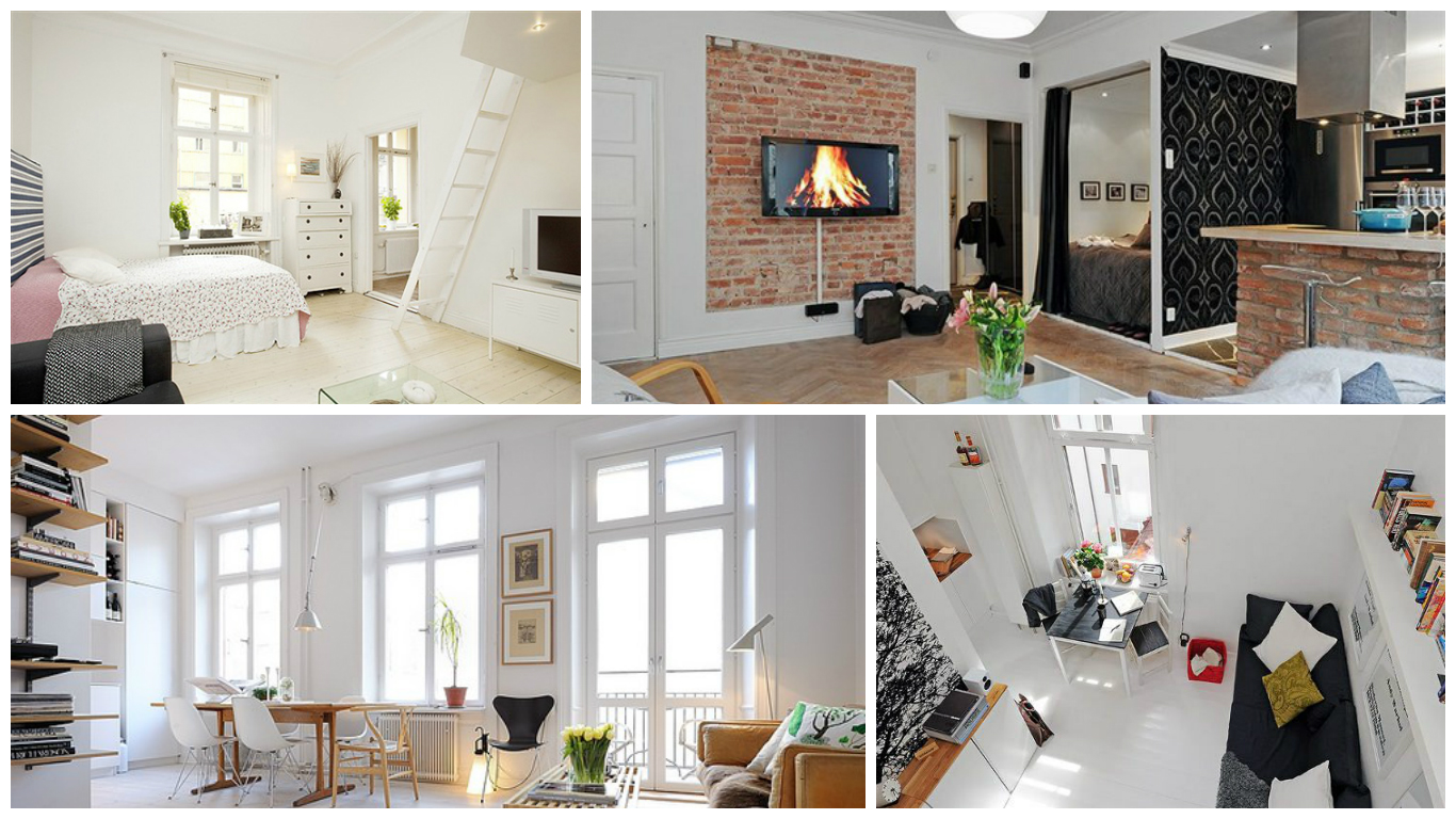 Лучшие интерьеры маленьких гостиных
