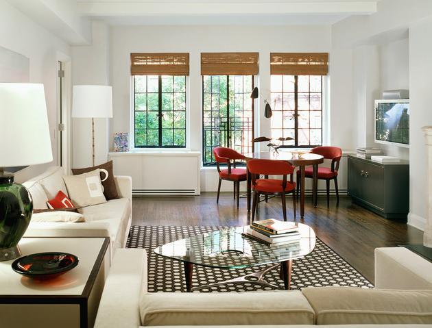 Интерьер маленькой гостиной в стиле минимализм