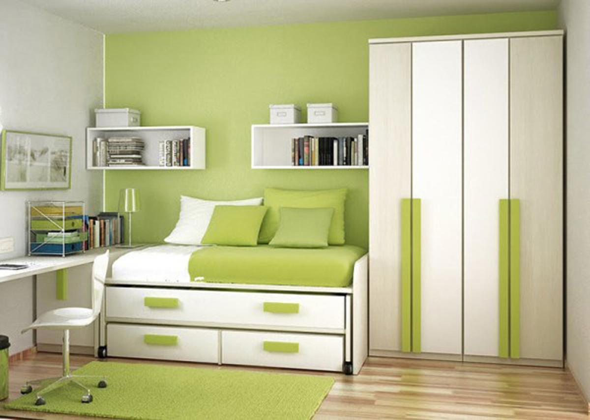 Дизайн комнаты зеленого цвета фото