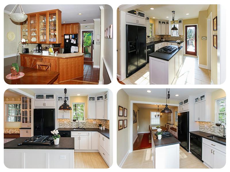 Интерьер маленькой кухни до и после перепланировки