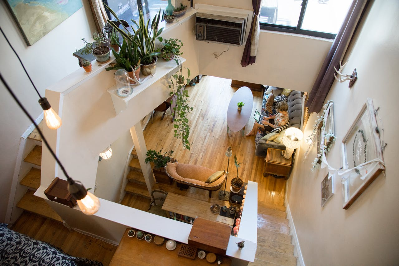 Интерьер маленькой квартирки с открытой планировкой