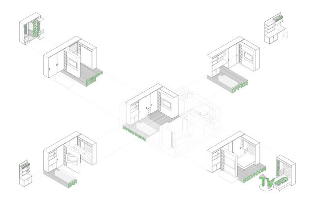 Схема передвижения стены