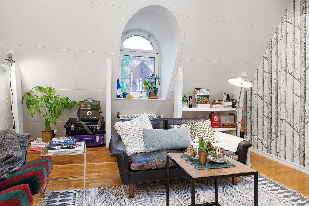 Интерьер маленькой квартиры площадью 50 м<sup>2</sup>