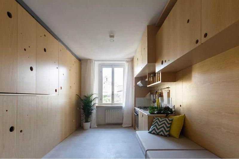 Интерьер маленькой просторной квартиры