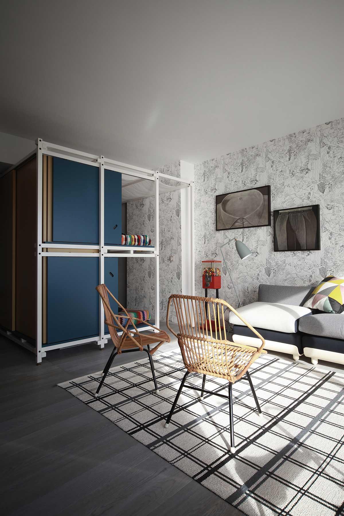 Интерьер маленькой квартиры в морском стиле