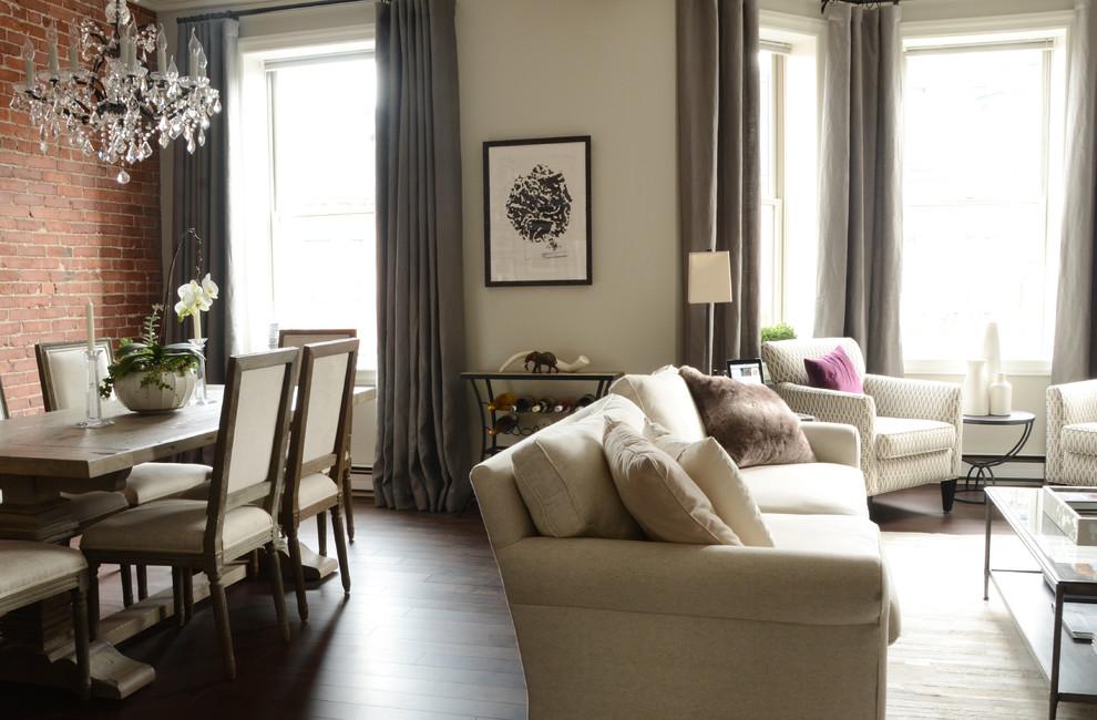 Интерьер маленькой квартиры: гостиная и столовая