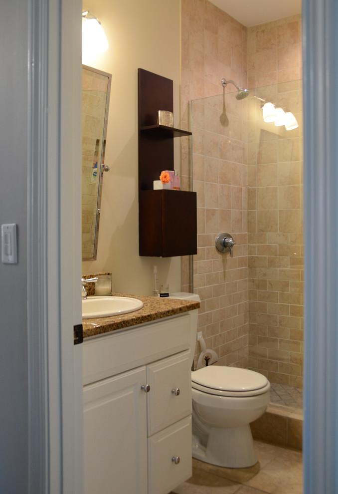 Интерьер маленькой квартиры: светлая ванная