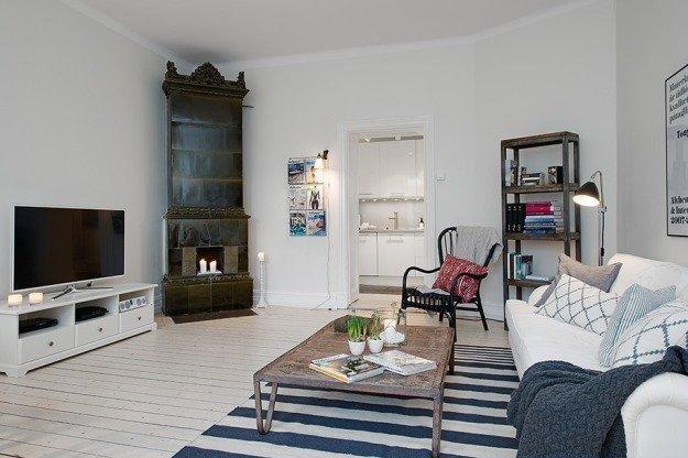 Интерьер квартиры в скандинавском стиле в Гётеборге