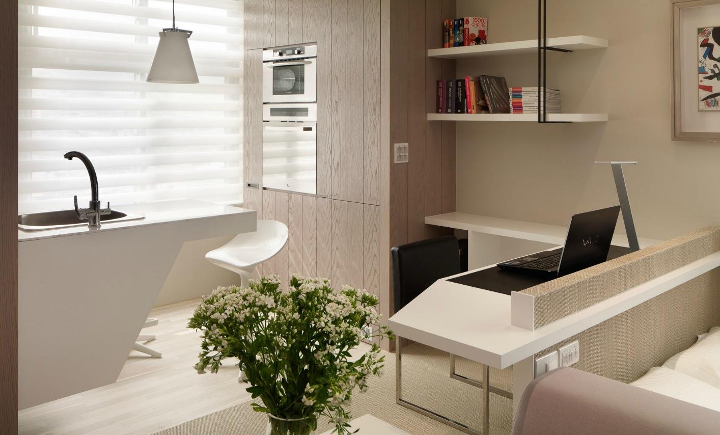 Кухня в маленькой однокомнатной квартире