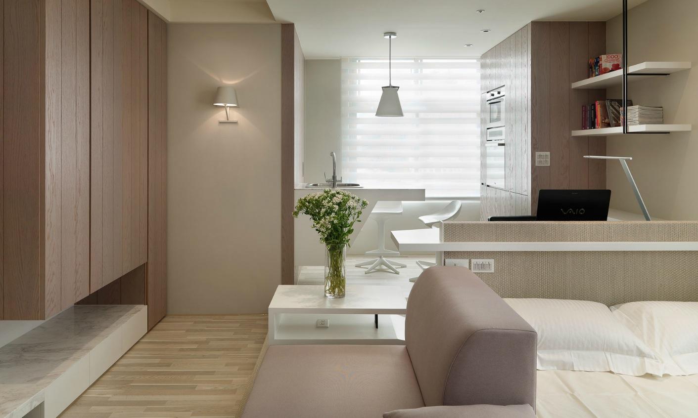 Зонирование в маленькой однокомнатной квартире