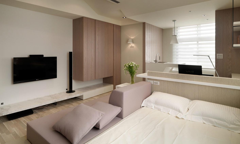 Зона отдыха в маленькой однокомнатной квартире