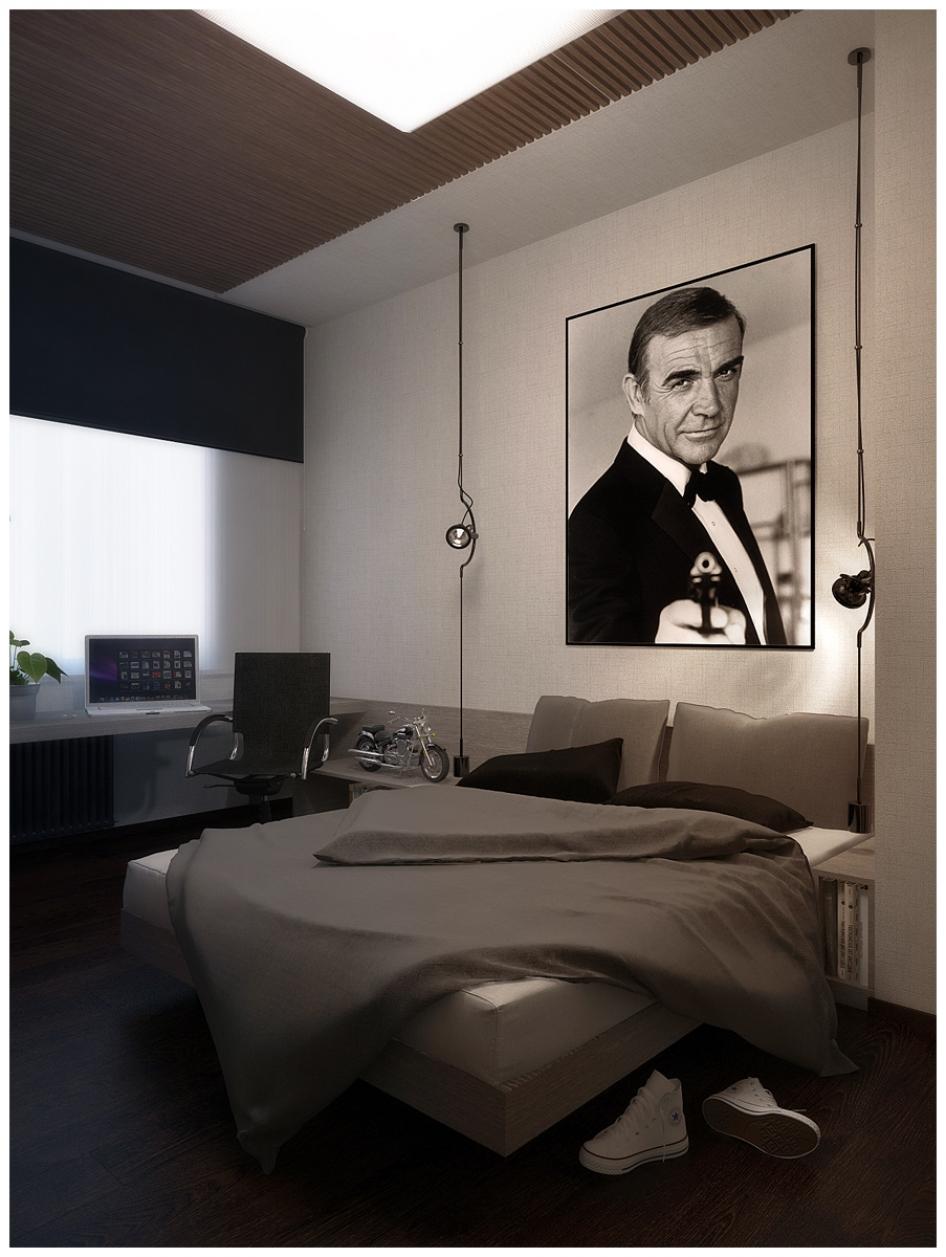 Пример дизайна интерьера маленькой спальни на фото