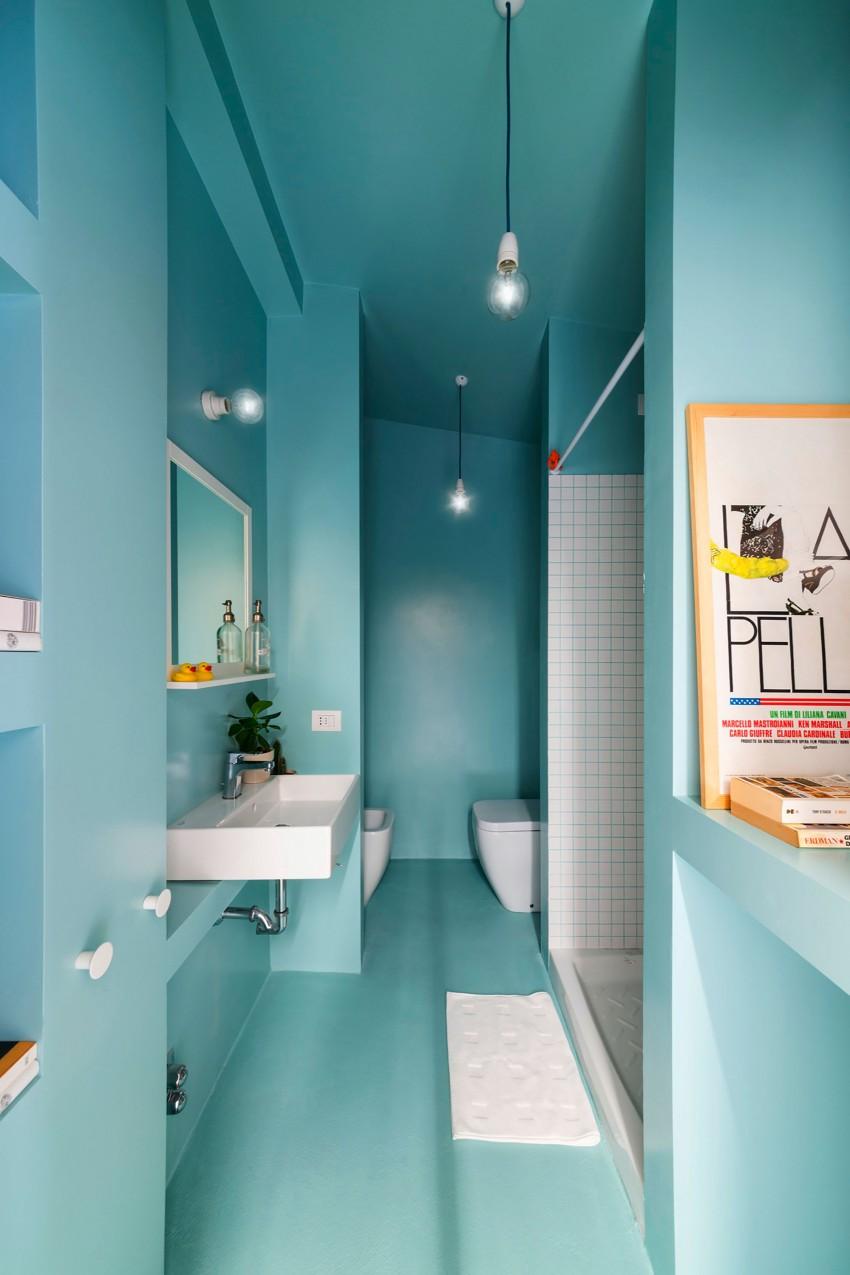 Интерьер ванная в бирюзовом цвете