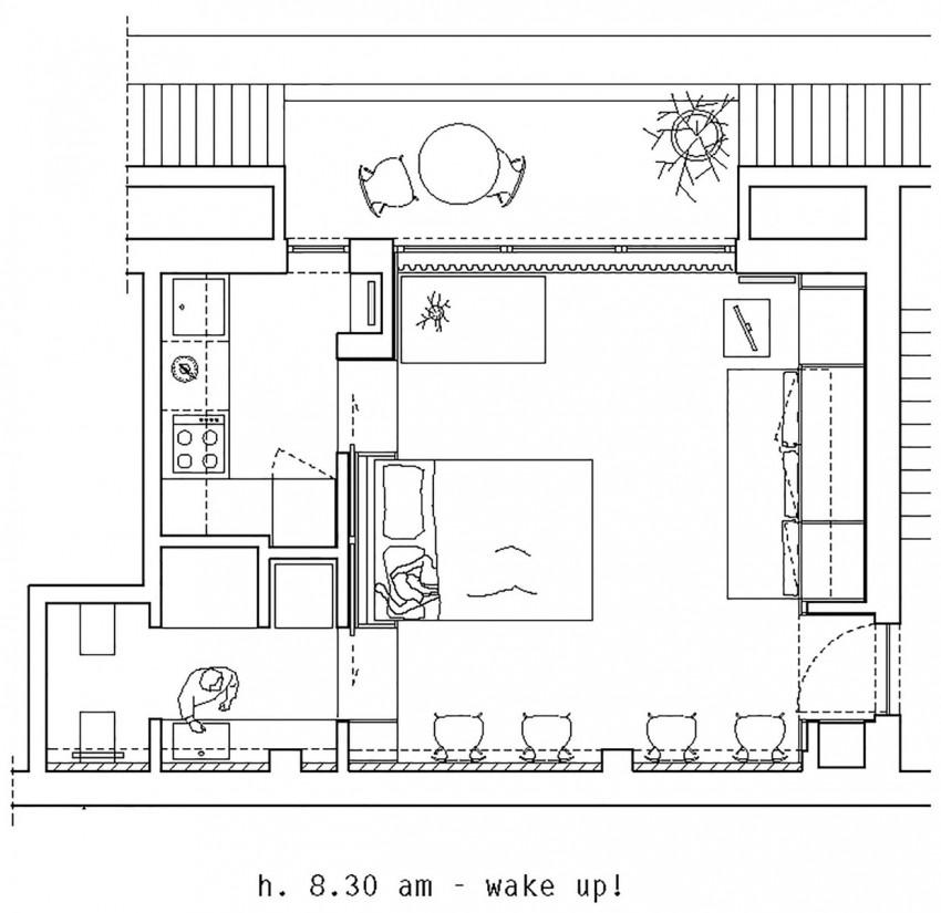 Планировка маленькой квартиры студии