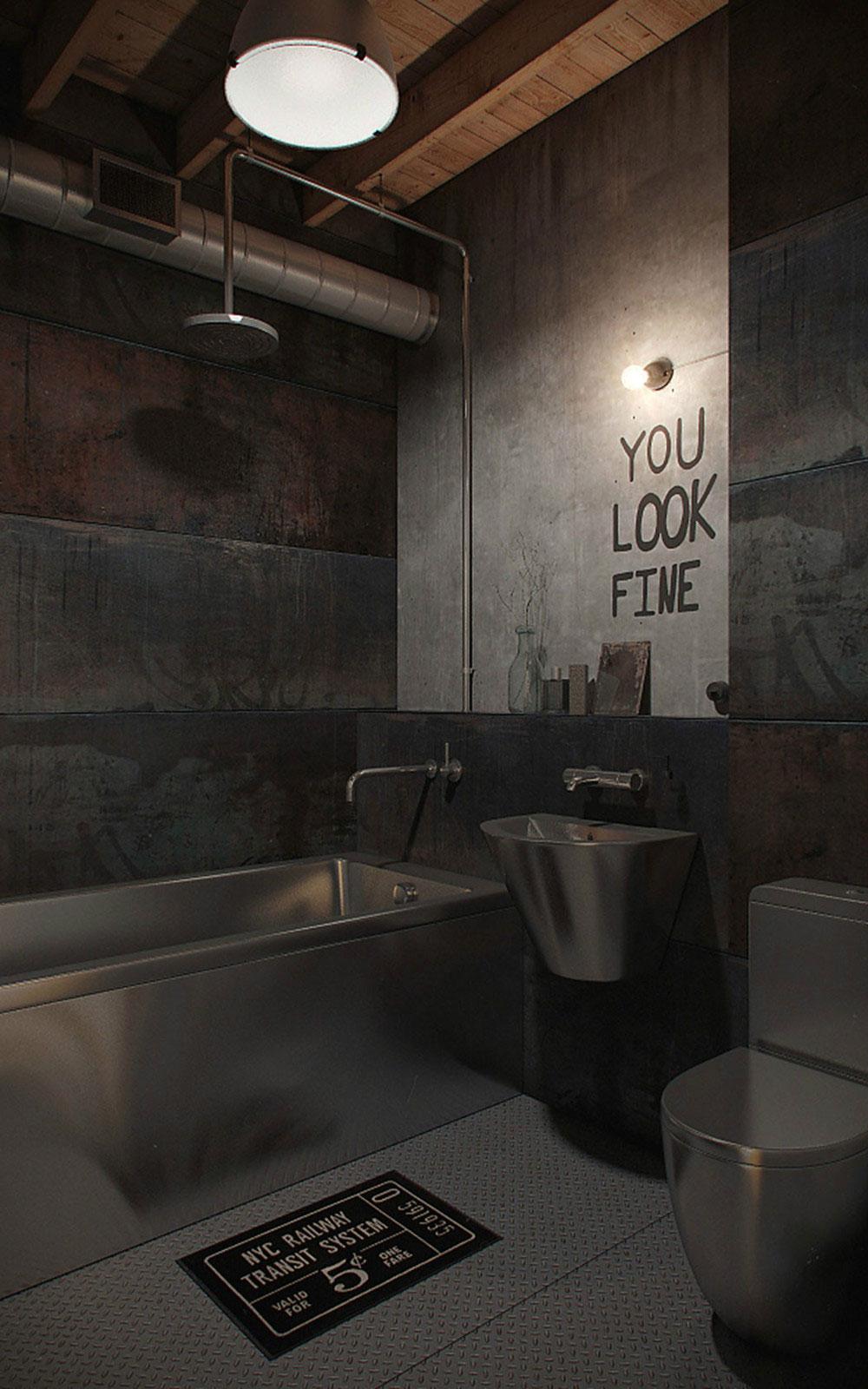 Интерьер маленькой ванной комнаты - фото 13