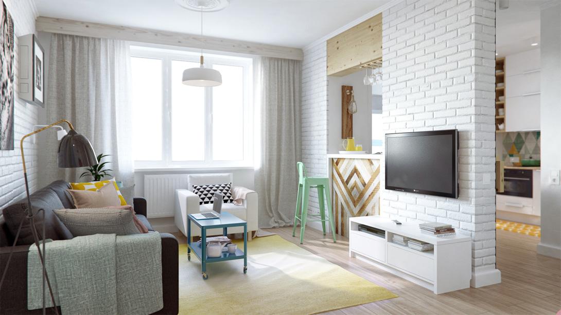 Дизайн интерьера небольшой квартиры в Москве