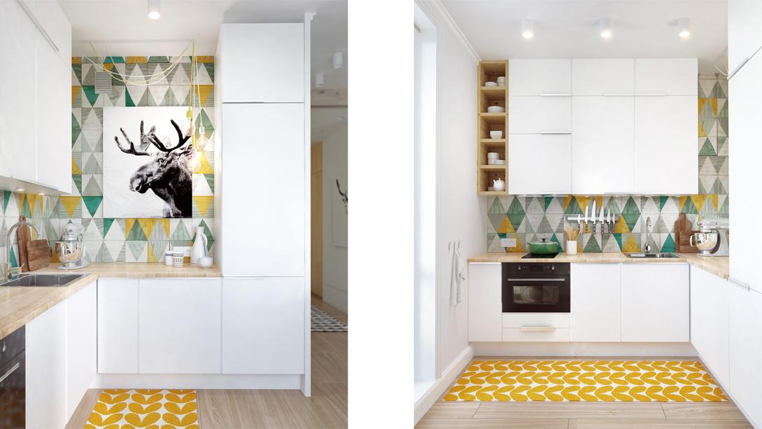 Дизайн интерьера кухни в небольшой квартире в Москве