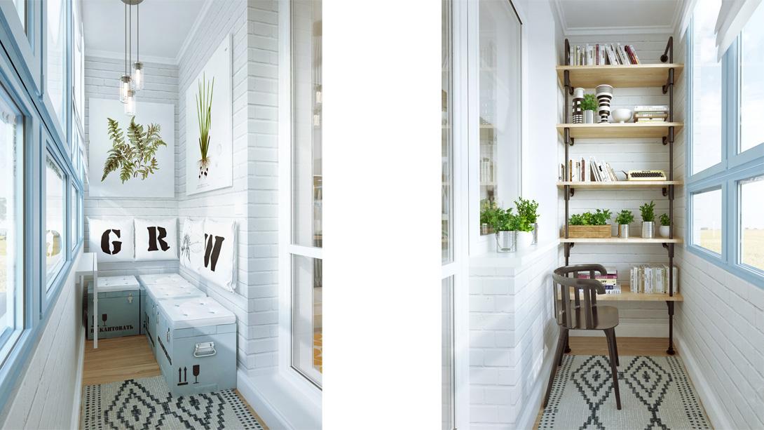 Функциональный лофт-интерьер небольшой квартиры.