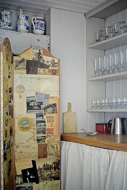 Кухонный уголок за ширмой