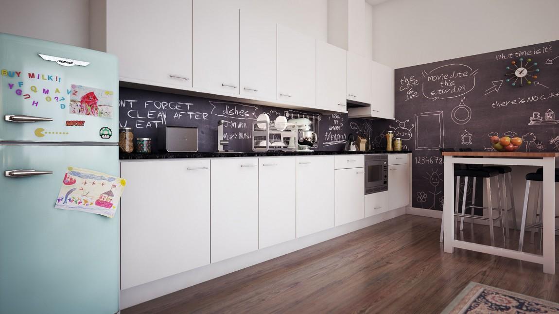 Дизайнерский интерьер небольшой кухни - фото 3