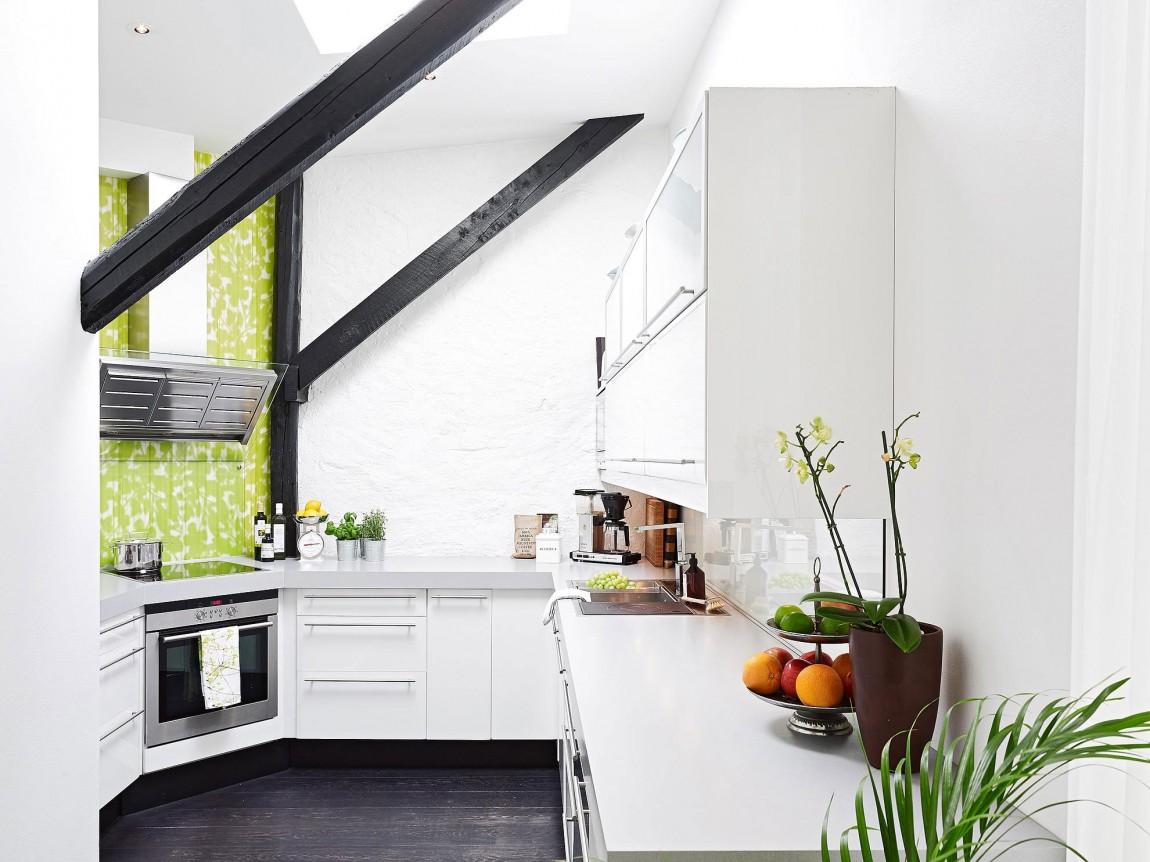 Дизайнерский интерьер небольшой кухни - фото 9