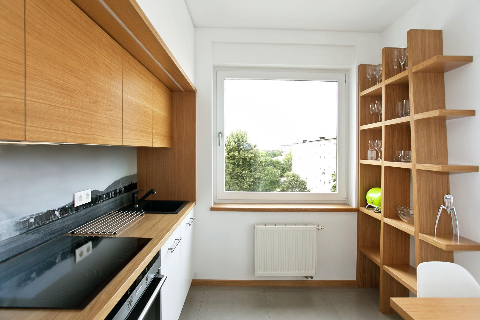 Дизайнерский интерьер небольшой кухни - фото 10