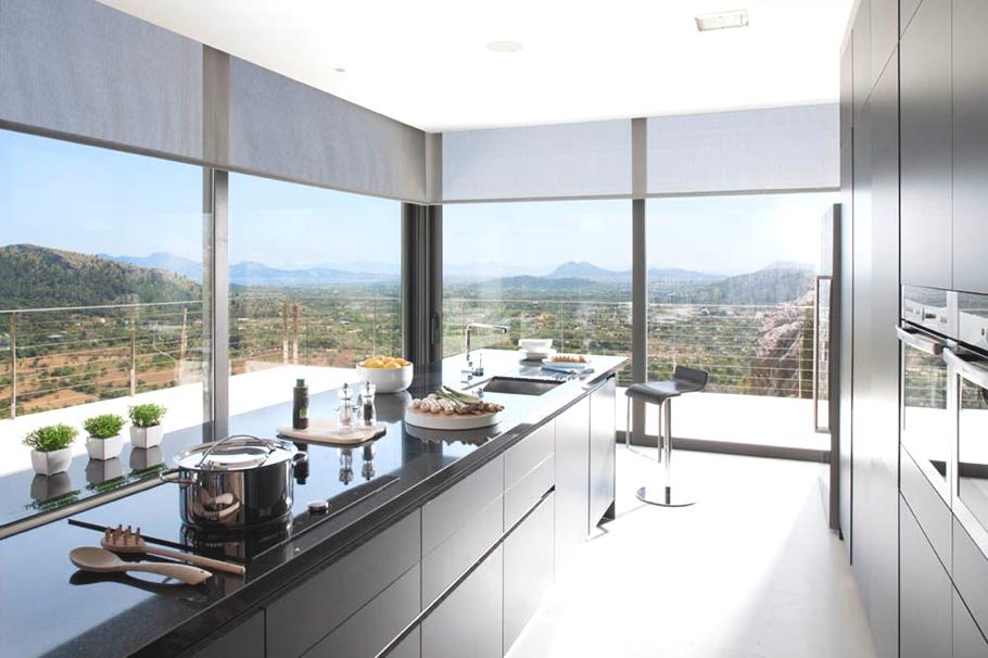 Дизайнерский интерьер небольшой кухни - фото 17
