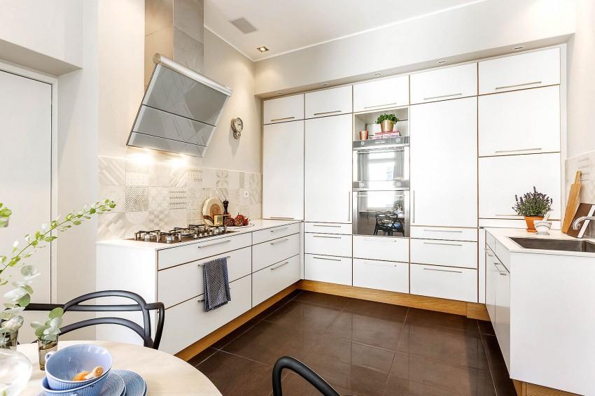 Дизайнерский интерьер небольшой кухни - фото 18