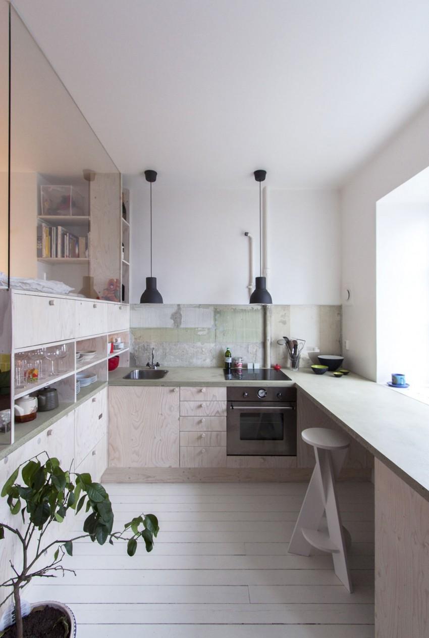 Дизайнерский интерьер небольшой кухни - фото 19