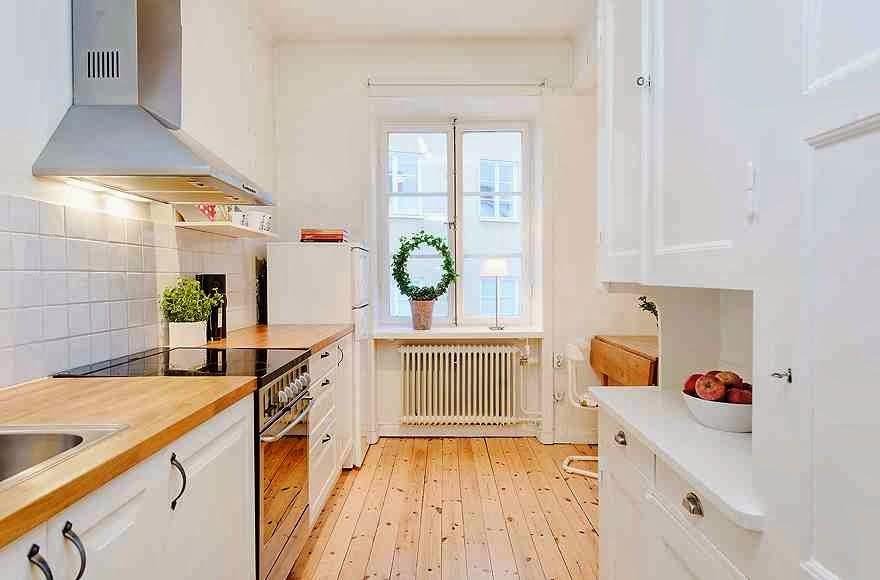 Дизайнерский интерьер небольшой кухни - фото 29