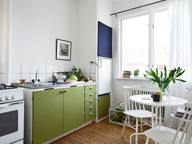 Дизайнерский интерьер небольшой кухни - фото 33