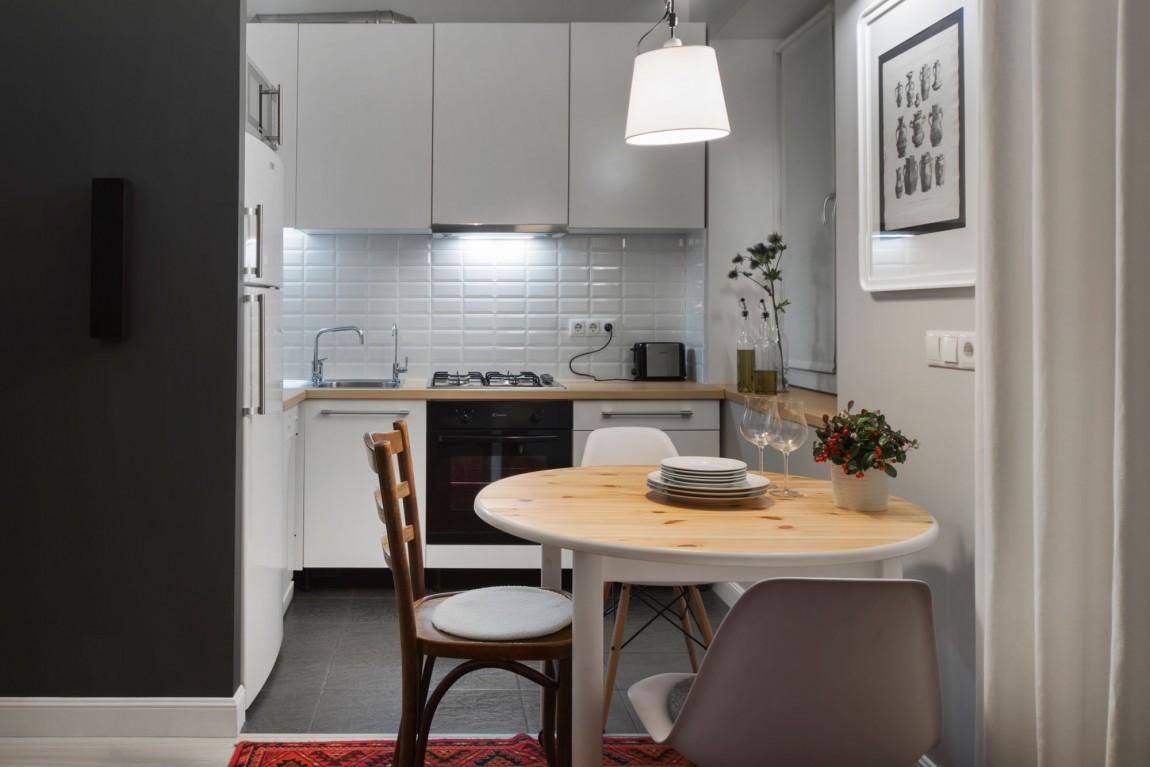 Дизайнерский интерьер небольшой кухни - фото 39