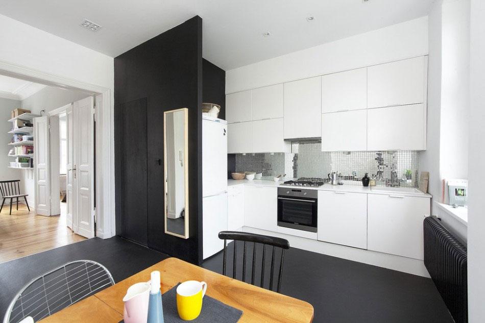 Дизайнерский интерьер небольшой кухни - фото 42