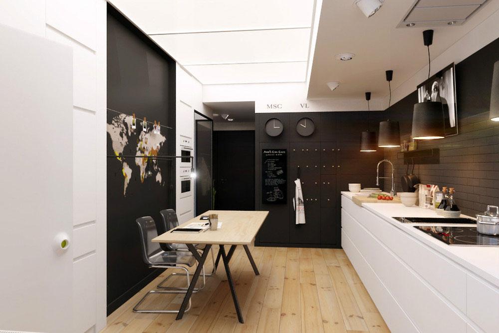 Дизайнерский интерьер небольшой кухни - фото 44