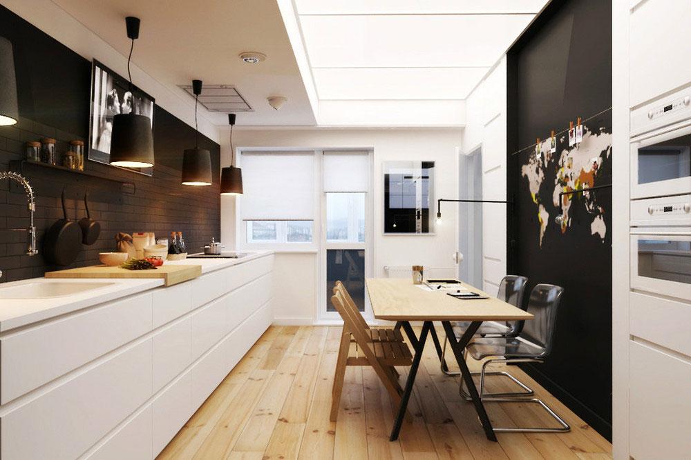 Дизайнерский интерьер небольшой кухни - фото 45