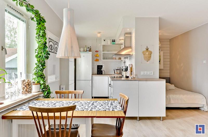 Дизайнерский интерьер небольшой кухни - фото 47
