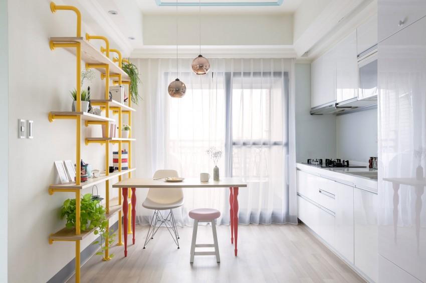 Дизайнерский интерьер небольшой кухни - фото 51