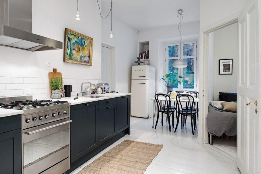 Искусственное освещение в интерьере небольшой кухни
