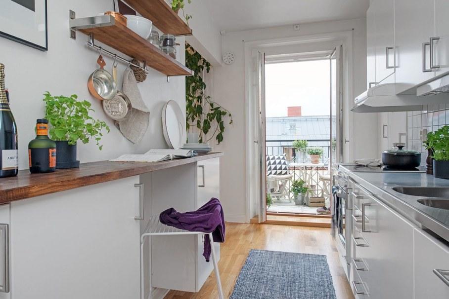 Декоративные элементы в оформлении интерьера небольшой кухни