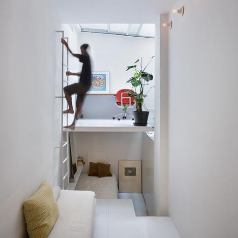 Отвесная лестница на второй уровень