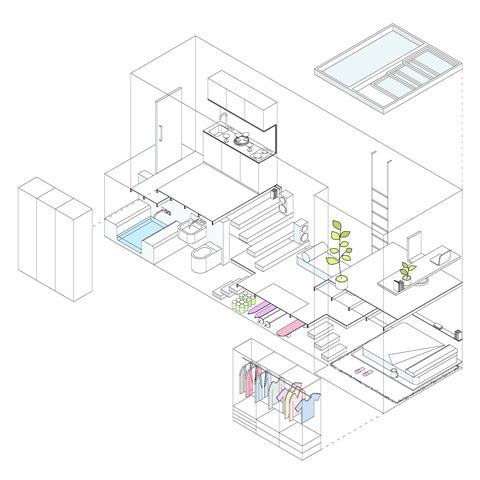 Планировка очень маленькой квартиры